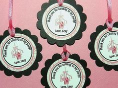 Ballerina Birthday Favor Tags Ballerina by APartyWithPaper on Etsy