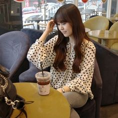 Long Sleeve Round Collar Plus Size Patterns Blouse