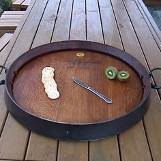 Wine Barrel Tray #platter #wine-barrel #wooden-tray