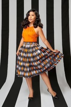 Pinup Couture Petite Jenny Skirt in Halloween Harlequin Print | Pinup Girl Clothing