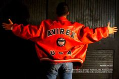 This jacket was known as a dangerous piece. Men got jumped on the street just for their Avirex jackets, so wearing one became a symbol of pride and audacity.