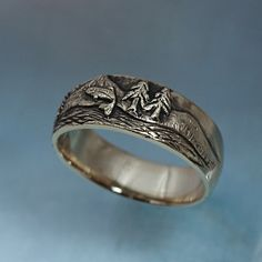 TROUT FISHING Ring in sterling silver  Mountain Fly by BandScapes, $155.00