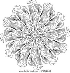 Mandala, adult coloring page, template, vector, circular pattern