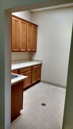 Left side view of the new kitchen that we did for Hospice of Wilmington. #DCandR #CommercialAlterations #DependabilityFirst
