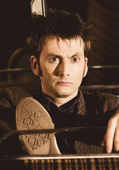 Doctor Who, David Tennant  * NOTE* tennant walks like me! Worn soles on the inside of the converse implies that he is flat footed with possible over pronation. This is exciting for me.