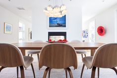 Boulder Modern Home - contemporary - Dining Room - Los Angeles - Kimberly Demmy Design. Gubi Chairs, Mapp Table