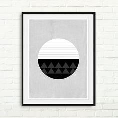 Geometric Print Circle Minimal Poster Modern Wall by DecoDezign