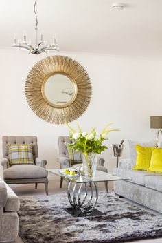 A Mixture Of Grey And Neutral Fabrics Textures Create Luxurious Cozy Living Room