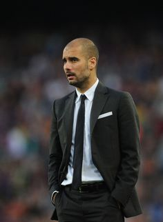 Pep Guardiola - I'm not sure I could pull off the skinny tie, but it's a great look.