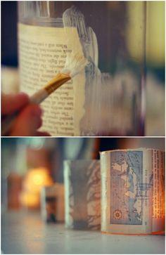 Old Book Jar Luminaries