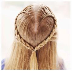 Cute hair style for the girls for Valentines Day at school!
