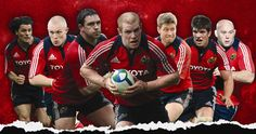 The Munster heroes are showed in the image in action. Munster Rugby, Sports Stars, Tennis Players, Photomontage, My Passion, Baseball Cards, Action, Places, Image