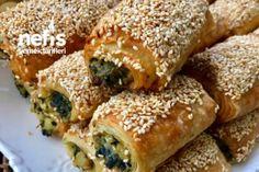 Teremyağlı Ispanaklı Çıtır Börek Tarifi Iftar, Spanakopita, Bagel, Tiramisu, Food And Drink, Pizza, Bread, Chicken, Breakfast