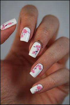 Pink cherry blossoms! I really want to learn how to do these.