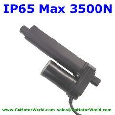 Waterproof 12V 200mm 8 inch adjustable stroke 3500N 770LBS load 5mm/s speed heavy duty linear actuator LA1035 #Affiliate