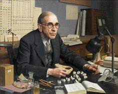 Meredith Frampton (1894-1984). Dr. Clive Forster-Cooper, F.R.S. Frampton was a member of The Artists Rifles.