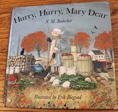 the marlowe bookshelf: Hurry, Hurry, Mary Dear