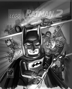 Lego Batman 2 DC Super Heroes by Albert Co, via Behance Lego Batman 2, Superhero, Lego Universe, Digital Art, Joker, Behance, Fictional Characters, Games, Birthday