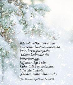 Kirjoitin kauneimman runoni iltaruskoon meren vaahtoon linnunlennon vanaan. Vain sinä ymmärsit sen. Ja tulit. (Maaria Leinonen) Learn Finnish, Finnish Words, Wise Words, Poems, Wisdom, Thoughts, Learning, Quotes, Life