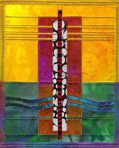 Monolith 1 - Quilt by David Walker.  Collection of Lynn S. Macri-Buss, Santa Fe, NM