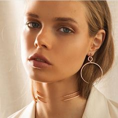 Oversized Open Crescent Statement Hoops Hoop is 41 MM Worn in Ear as a Stud Plated Rose Gold Available in Gold and Silver too Made from Brass Affordable Jewelry, Stylish Jewelry, Cheap Jewelry, 14k Gold Jewelry, Bridal Jewelry, Girls Jewelry Box, Jewelry Sites, Horse Jewelry, Gold Diamond Earrings