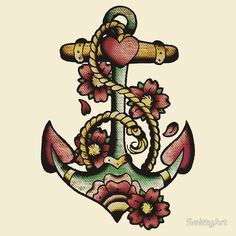 neo traditional tattoo anchor - Cerca con Google