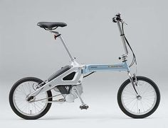 Honda folding electric bike with mid drive hub motor.