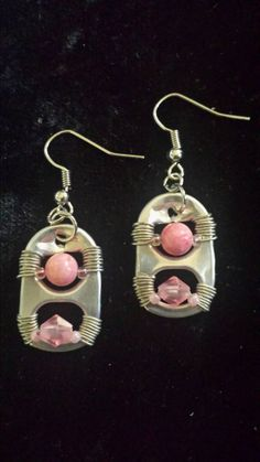 Check out this item in my Etsy shop https://www.etsy.com/listing/209456785/recycled-pink-earrings
