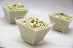 Panna cotta al pistacchio senza zucchero
