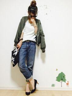 ❁Hana❁ AZUL by moussyのニット/セーターを使ったコーディネート - WEAR