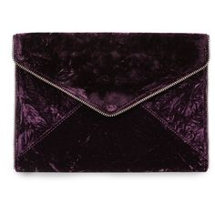 Rebecca Minkoff Leo Velvet Clutch (6705 RSD) ❤ liked on Polyvore featuring bags, handbags, clutches, dark cherry, rebecca minkoff clutches, cherry handbag, magnetic purse, rebecca minkoff handbags and cherry purse