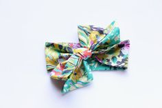 Big Bow Headwrap  Spring Floral by TaylorMadeText on Etsy