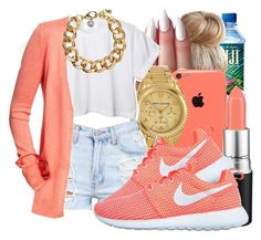 """""""Shantae"""" by honey-cocaine1972 ❤ liked on Polyvore featuring Michael Kors, CC, Old Navy, MAC Cosmetics, NIKE and H&M"""