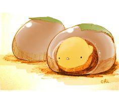 栗きんとんを水まんじゅうの皮で包んだ岐阜のお菓子。ほくほくの栗とつるんとした水まんじゅうの食感がたまりません。