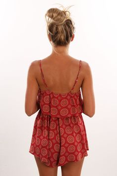 Check out this product from Jean Jail: Unassigned: Bel Air Playsuit Red