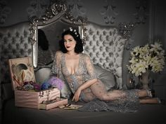 Dita's robe is gorgeous. I'm pretty sure I would swoon to own just a bit of what's in that box.