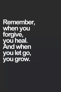 Let go and grow