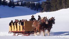 Keystone Romantic Wedding Venues - Dinner Wagon Sleigh Ride   Iconic Weddings