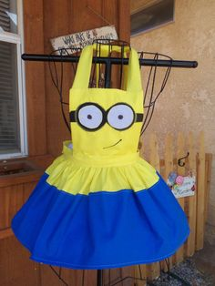 Minion Apron  2 eyes or 1 eye by Josettesaprons on Etsy, $30.00