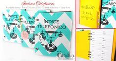 Índices telefónicos !! Hojas diseñadas con capacidad para 720 contactos. Tamaño 10cm x 15cm