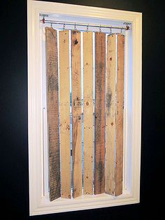 diy pallet wood vertical blinds, carpentry woodworking, diy renovations projects, pallet projects, repurposing upcycling, windows doors