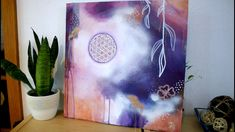 Original Artwork in Acryl Original Artwork, Original Paintings, Sacred Geometry Art, Acrylic Painting Flowers, Flower Of Life, Boho, Hand Painted, Wall Art, The Originals