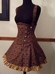 Steampunk Lolita Corset Dress underbust corset by corsetwonderland, $375.00