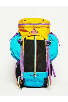 Similar to Chums Spring Dale 50 Ii Backpack Yellow Multi Hiking Gear, Hiking Backpack, Backpack Bags, Travel Bags, Lounge Wear, Backpacking, Sport, Urban Outfitters, Wallet
