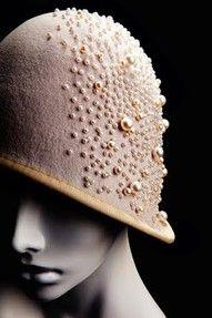 ❤ - beaded cloche c. 1930's