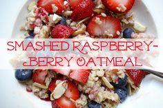 Creatively Delish | Smashed Raspberry Oatmeal | http://creativelydelish.com
