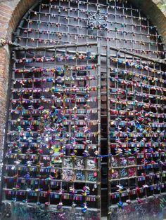 Locks of love at Juliet's house, Verona, Italy