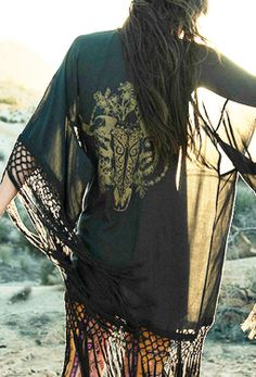 Indian Summer Tassel Kimono | Spell and the Gypsy Collective www.thefreedomstate.com.au #bohemian ☮k☮ #boho