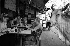 Travel Photography: Delhi, India Street-side restaurant in Paharganj.