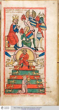 Hs 2505. Speculum humanae salvationis. Westfalen od. Köln, um 1360